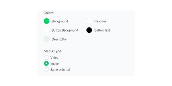 Thiết lập màu sắc thêm hình ảnh video vào thank you page