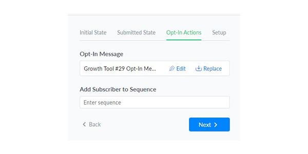 Thiết lập Opt-In Actions tương tự video trước