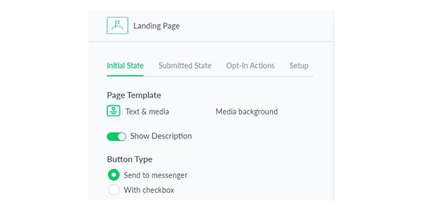 Thiết lập các thông số cho landing page