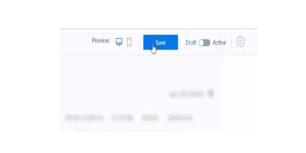 Bấm Save ở góc phải màn hình trên Manychat